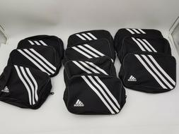 "10 Piece Adidas Zippered Small Travel Black White 7.5""L Athl"