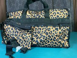 $125 LeSportsac Candace Leopard Classic Weekender Travel Duf