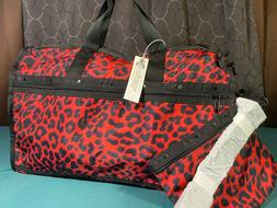 $125 LeSportsac Candace Red Ruby Leopard Classic Weekender T