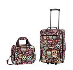Rockland 2 Piece Carry On Rolling Travel Bag Luggage Set Ass