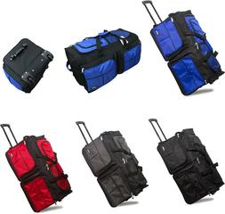 """20"""" / 28"""" Polyester Rolling Duffel Bag Wheeled Luggage Trave"""