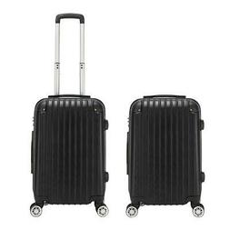 "20"" Expandable ABS Carry On Luggage Travel Bag Trolley Suitc"