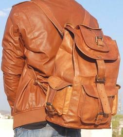20 soft genuine leather high back pack
