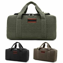 "22/26"" Men Canvas Travel Duffel Bag Weekend Overnight Gym Du"