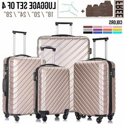 1/3/4/5Pcs Travel Luggage Set Bag Trolley Spinner Suitcase w