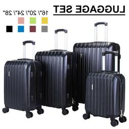3/4Pcs Travel Set Bag Trolley Spinner Suitcase Luggage ABS w