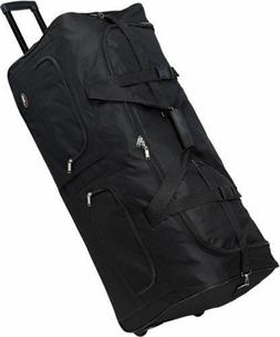 """36"""" Large Polyester Rolling Duffel Wheeled Luggage Suitcase"""