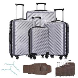 4PC Luggage Set Travel Bag Trolley Spinner ABS Business Hard