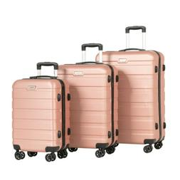 3PCS Luggage Set Travel Bag Trolley Spinner Carry On Suitcas