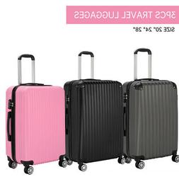 3pcs travel luggage set trolley spinner suitcase