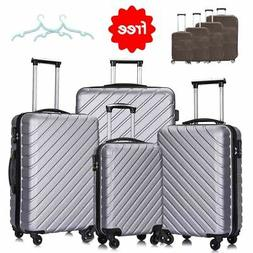 4 PC Luggage Set Travel Bag Trolley Spinner Business Hard Sh