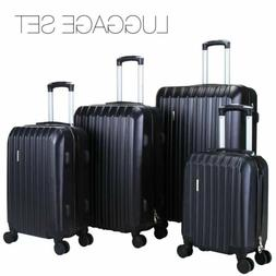 4Pcs Travel Luggage Set Bag ABS Spinner Trolley Carry On Sui