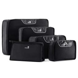 Nacuwa 5Pcs Packing Cubes Travel Clothes Storage Luggage Org