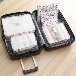 6Pcs/Set <font><b>Travel</b></font> Clothes <font><b>Bags</b