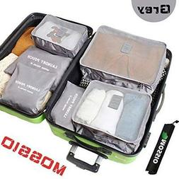 Mossio 7 Set Packing Cubes with Shoe Bag Compression Travel