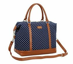 BAOSHA HB-28 Ladies Women Canvas Travel Weekender Bag Overni