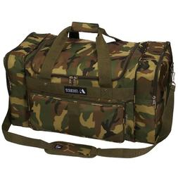 Everest Woodland Camo Duffel Bag, Camouflage, One Size