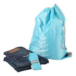 EzPacking Travel Laundry Bag with Drawstring/Foldable Compac