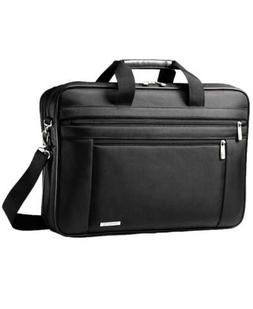 "Samsonite Classic Two Gusset 17"" Toploader, Black"