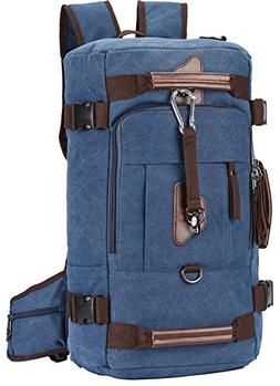 Travel Backpack, Aidonger Vintage Canvas Hiking Daypack Shou