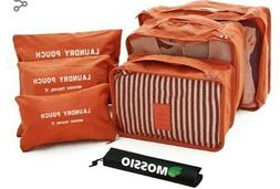 Travel Bag,Mossio 7pcs Luggage Pouch Durable Compact Trip Ge