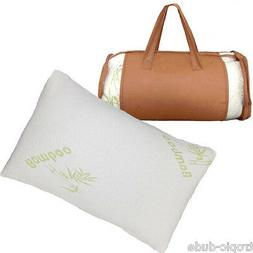 Two New Hypoallergenic Bamboo Pillow Memory Foam Queen Size