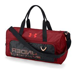 Under Armour Boys' Armour Select Duffle, Rapture Red /Neon C