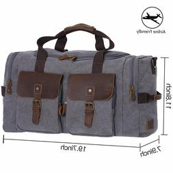 WOWBOX Duffle Bag Weekender Bag for Men and Women Genuine Le