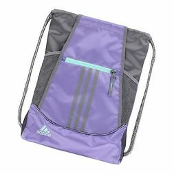 adidas Alliance II Sackpack, Light Flash Purple/Grey/Energy