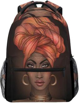 ALAZA African Lovely Girl Women Backpack Daypack College Sch