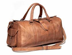 All Sizes New Soft Genuine Leather TRAVEL Bag Handcrafted Br