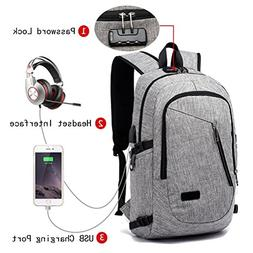 Finesdear Anti Theft Laptop Backpack with USB Charging Port