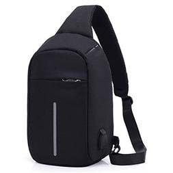 Wincy Shop Anti Theft Sling Bag with Usb Charging Port Shoul