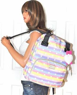 Betsey Johnson Backpack 2 in 1 Tote Large School Book Bag Tr