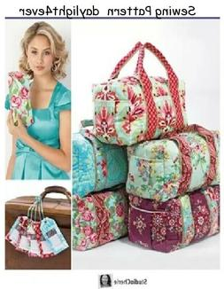 Simplicity Creative Patterns Backpack Totes and Cosmetic Bag