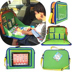 Backseat Car Organizer For Kids Holds Crayons Markers Tablet