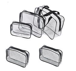 Cosmetic Bag Organizer clear Make up bags Zipper Zippered To