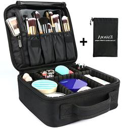 Makeup Bag, ESARORA Portable Travel Makeup Cosmetic Case Org