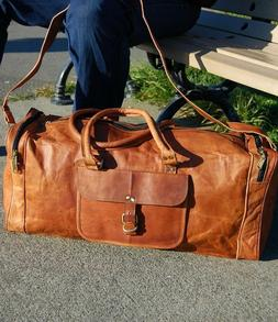 Mens Vintage New Leather Bag Duffel Travel Men Gym Luggage G