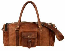 Bag Leather Travel Men Luggage Gym Duffle S Vintage Handbag