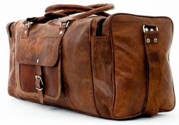 bag real leather travel luggage large duffel
