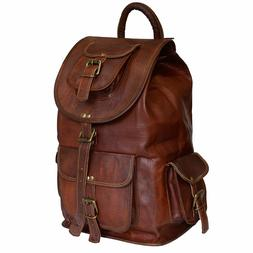 Real Goat's Leather Men's Large Outdoor Weekend / Laptop / T