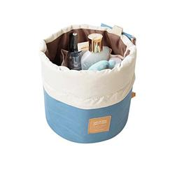 Travel Cosmetic Bags Barrel Makeup Bag,Women &Girls Portable