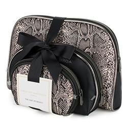 Adrienne Vittadini Cosmetic Makeup Bags: Compact Travel Toil