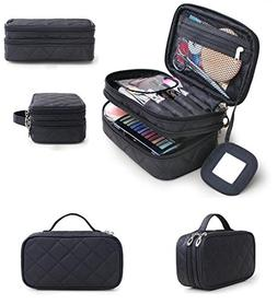 HOYOFO Travel Cosmetic Bags Portable Makeup Brush Bag Beauty