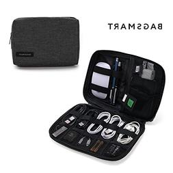 BAGSMART Small Travel Electronics Cable Organizer Bag for Ha