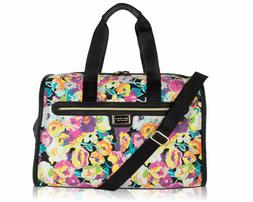 Betsey Johnson Be Mine Quilted FLORAL Carry-on Weekender Duf