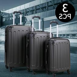 BHC 3Pcs Suitcase Luggage Travel Bag Tags Spinner Coded Lock