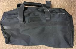 Black Canvas Travel Bag With Extendable Handle & 2 wheels 23