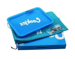Blue GlowTray x Cookies LED Rolling Tray + Free Cookies Trav